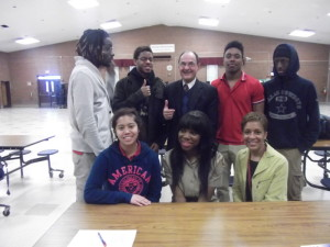 Photo of Rich Patenaude with members of the 1st Student Millionaire Club